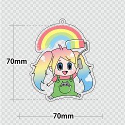 画像1: アクリルキーホルダー【70×70mm】〈両面印刷〉3個